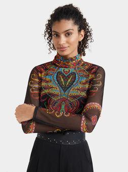 Блуза с пейсли мотиви - 1