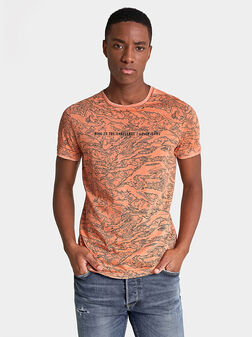 Памучна тениска с принт - 1