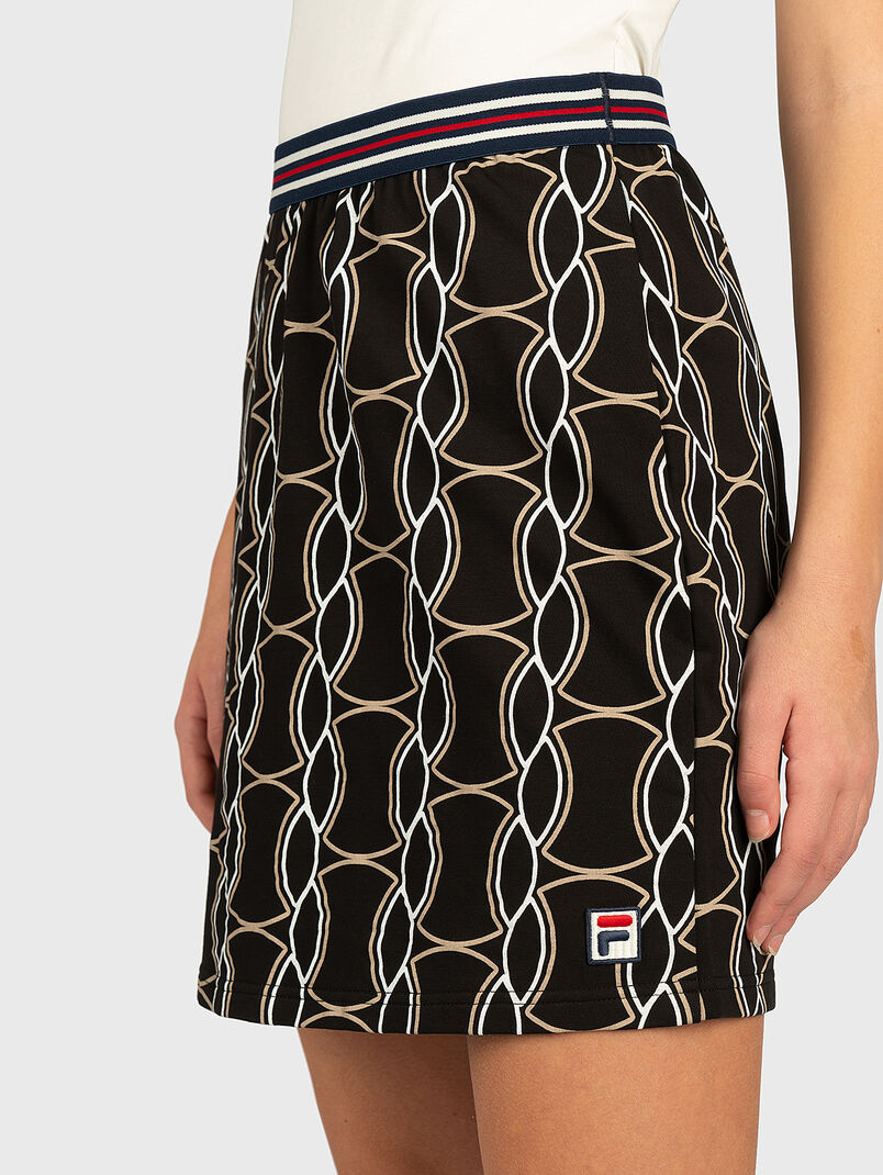 HADRIA Skirt with contrasting print - 3