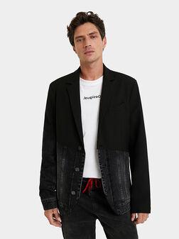 Jacket with denim inserts - 1