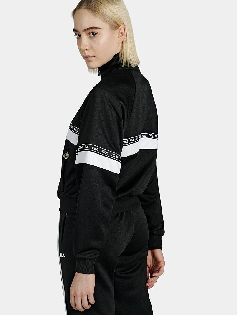 CHINAMI Black sweatshirt with half-zip - 3