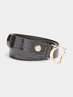CORILY Belt with crocodile texture - 1