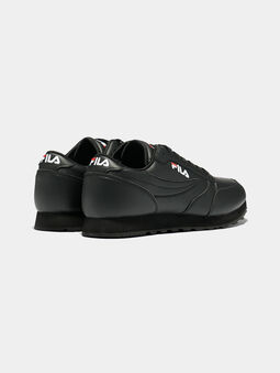 ORBIT JOGGER LOW Black sneakers with logo embroideries - 3