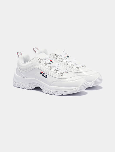 STRADA F White sneakers with glossy finish - 4
