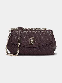 Чанта със златиста лого закопчалка - 1
