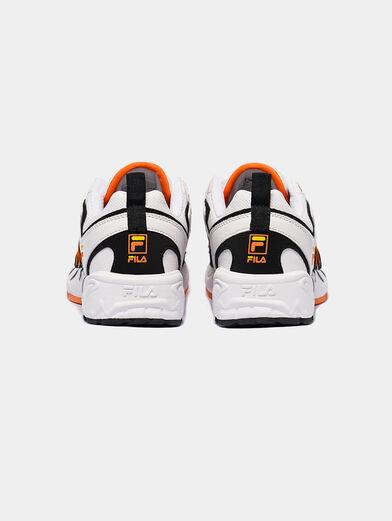ADRENALINE White runners with orange details - 1