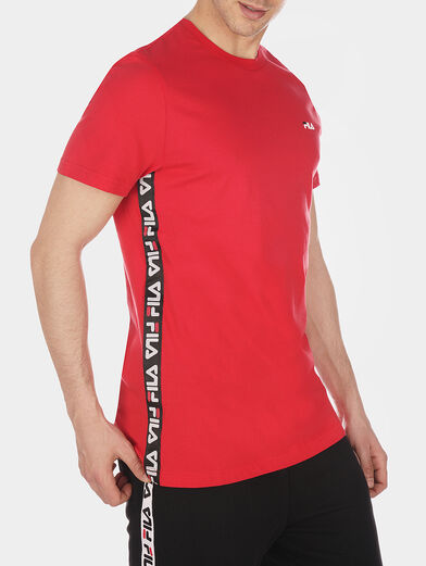 TALAN Red T-shirt with logo branding - 2