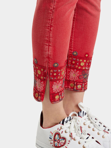 DELFOS Pant with ethno embroidery - 3