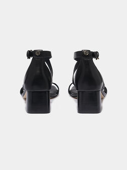 DIANE Black leather sandals - 1