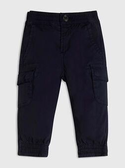 Blue sports poplin pants - 1