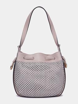 Чанта за рамо в бежов цвят - 1