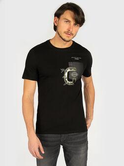 Памучна тениска STORM в черен цвят - 1