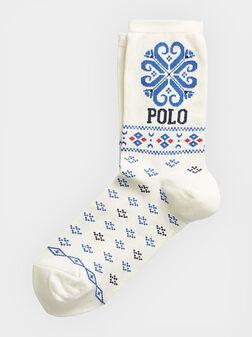 Бели чорапи CORTINA с принт  - 1