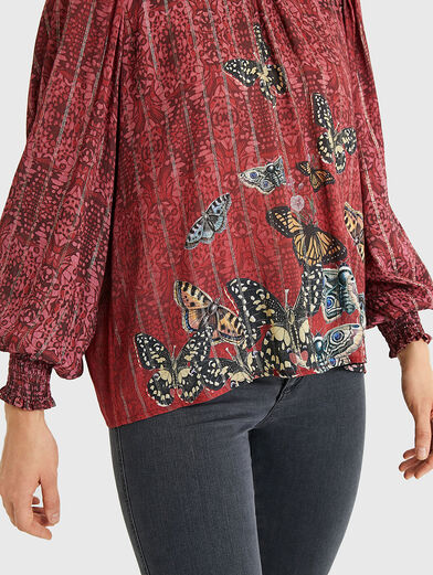 BUTTERFLY Blouse with puff sleeves - 5
