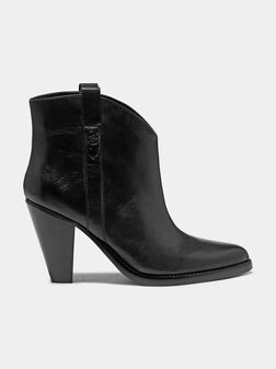 GARRIE Black leather western ankle boots - 1