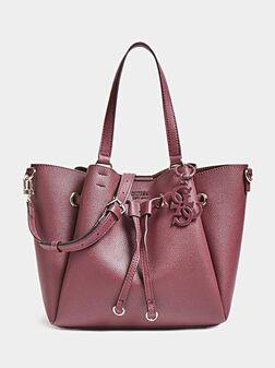 Чанта в тъмночервен цвят - 1