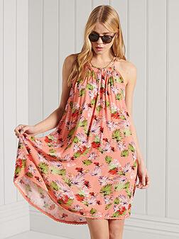 Beach dress with halter neckline - 1