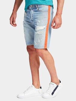 Къси памучни дънкови панталони JACKSON - 1