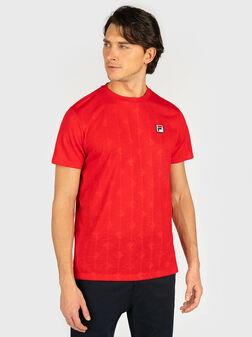 Т-шърт HENIO в червен цвят - 1