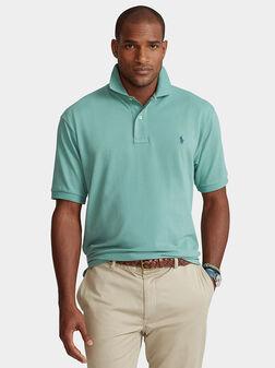 Green cotton polo-shirt - 1