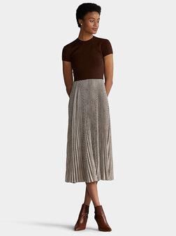 Plaid pleated dress - 1