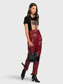 Faux leather pant - 5