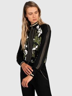 Sweatshirt with glamorous details - 1