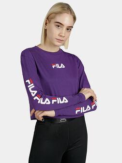 Виолетова скъсена блуза REVA - 1