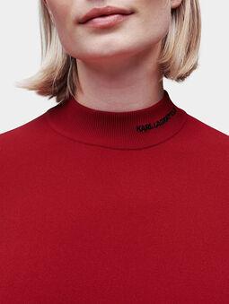 Mock neck sweater in black - 3