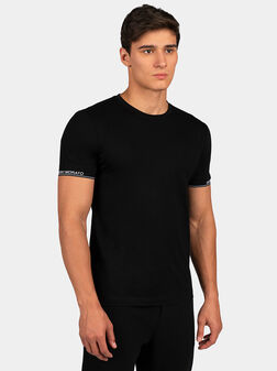 Black T-shirt with logo - 1