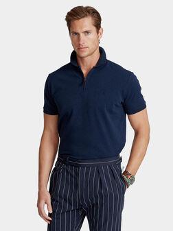 Navy blue polo-shirt - 1
