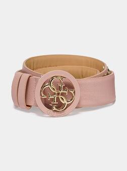 Pink belt with logo details - 1