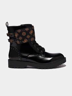 WANDA Combat boots with contrasting strap - 1