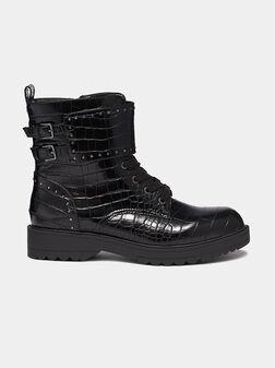 WANDA Combat boots with crocodile print - 1