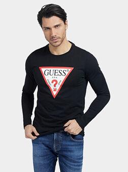 Черна блуза от органичен памук - 1