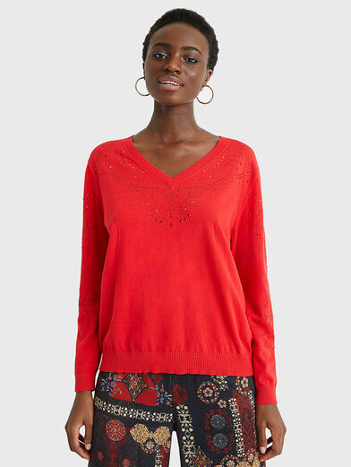 GANTE Sweater in red color - 1