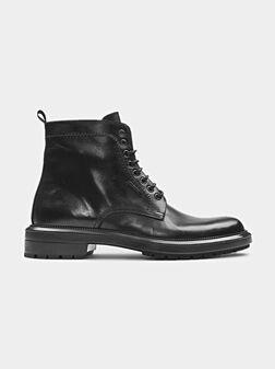 Genuine leather combat boots - 1