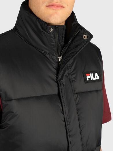 Puffer vest in black color - 2