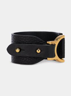 ARLETTIS Black leather bracelet  - 1