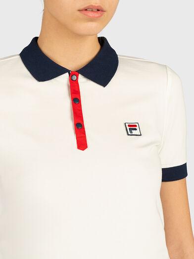 HATEYA Polo-shirt with contrasting collar  - 2