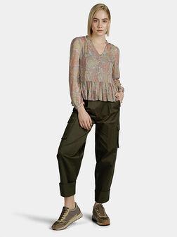 Ефирна блуза с пейсли принт THERESA - 1