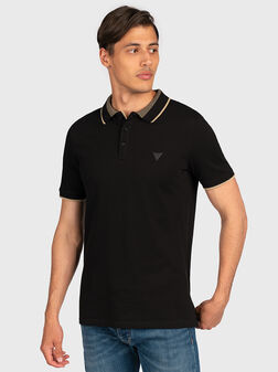 Black polo-shirt with logo detail - 1