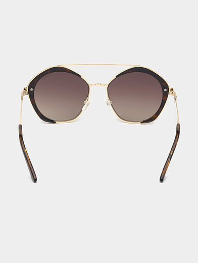 Sunglasses with brown glasses and gold frames - 4