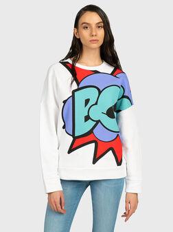 White sweatshirt - 1