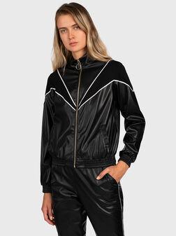 Eco-leather sweatshirt - 1
