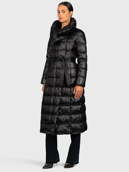 Quilted down jacket with genuine feather padding - 1