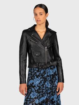 Black leather jacket - 1
