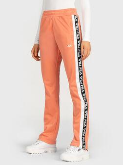 Спортен панталон с брандирани ленти - 1
