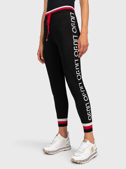 Панталон с контрастен лого брандинг - 1