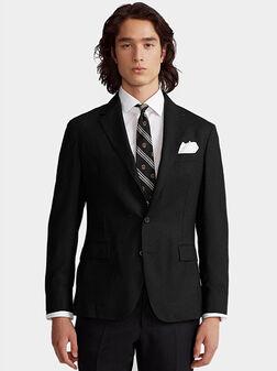 Black blazer with classic lapel - 1